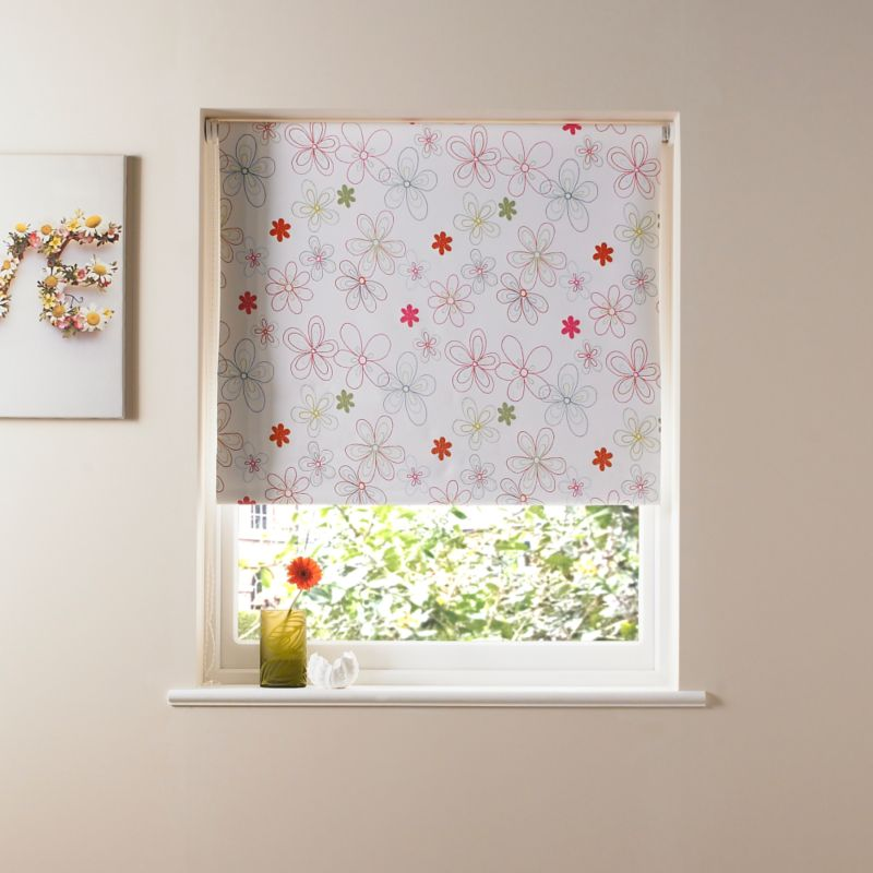 Colours by BandQ Black Out Plain Roller Blind