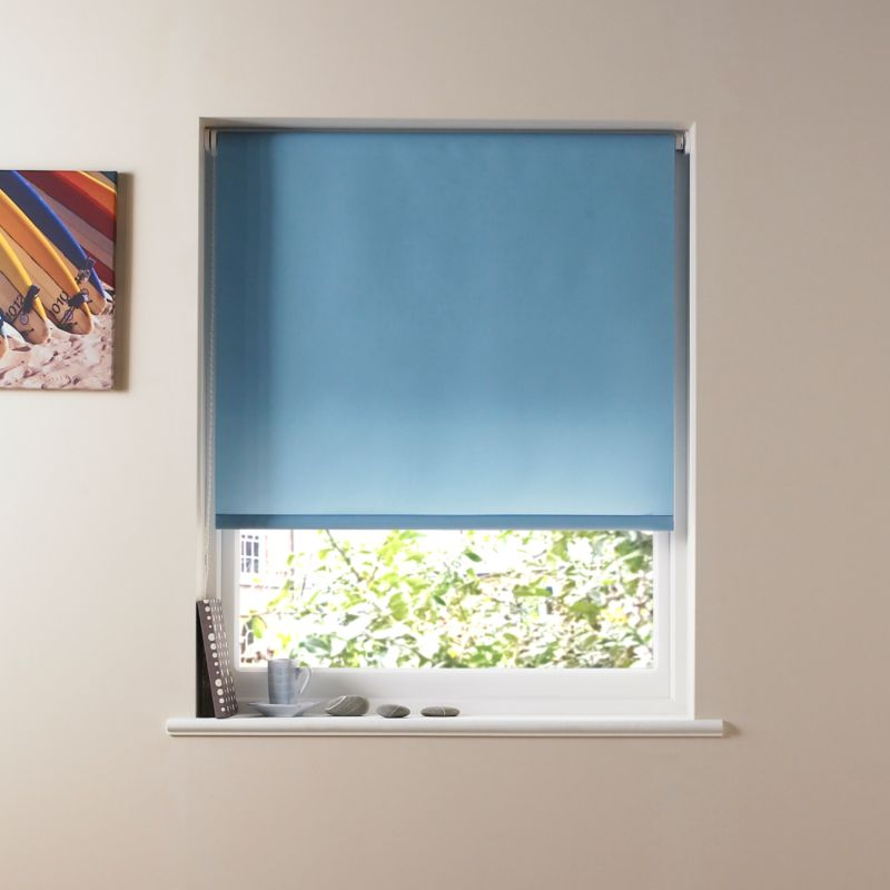 Colours by BandQ Plain Roller Blind Airforce