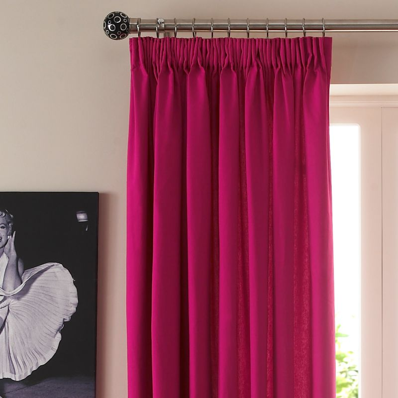 Colours by BandQ Mali Pencil Pleat Curtains Pink