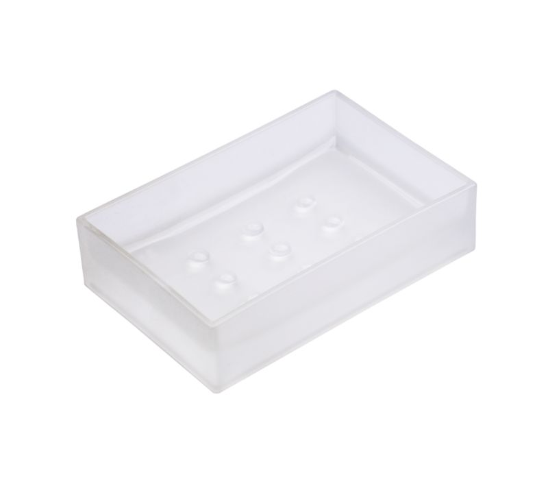 BandQ Clear Quartz Square Soap Dish