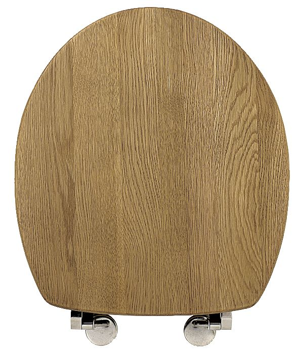 BandQ Toilet Seat Solid Oak