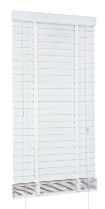 Colours Collection by B&Q Faux Wood Venetian Blind White (W)180 x (L)180cm