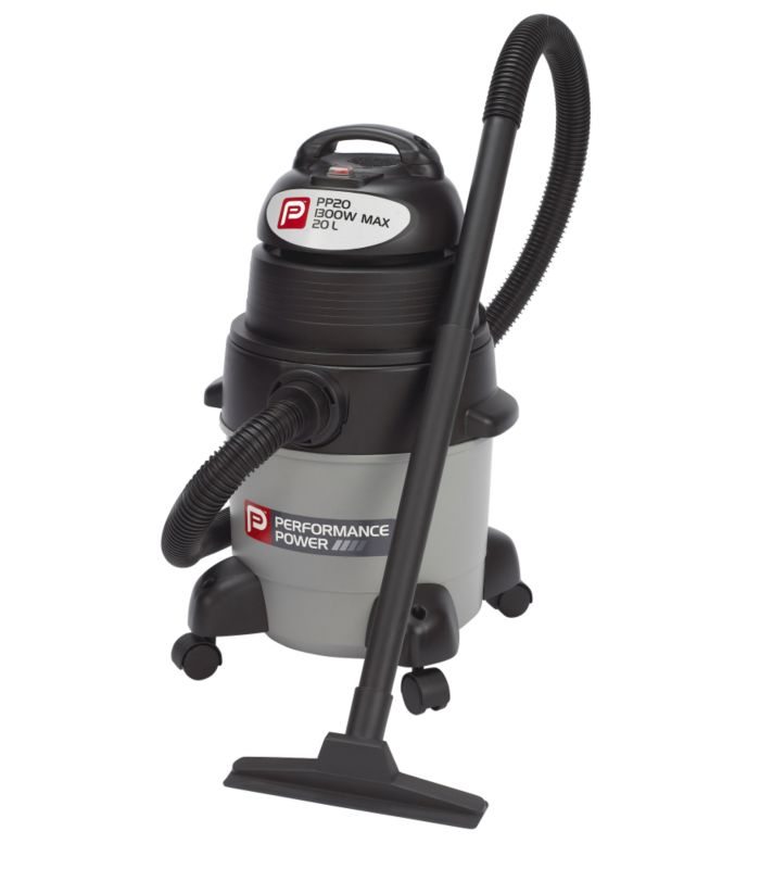 Performance Power1300W Wet/Dry Vacuum PP20 Grey/Black 20L