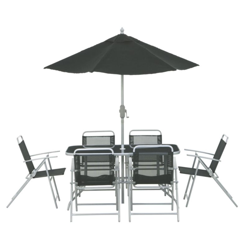 Lisbon Pack Of 6 Chairs And Parasol