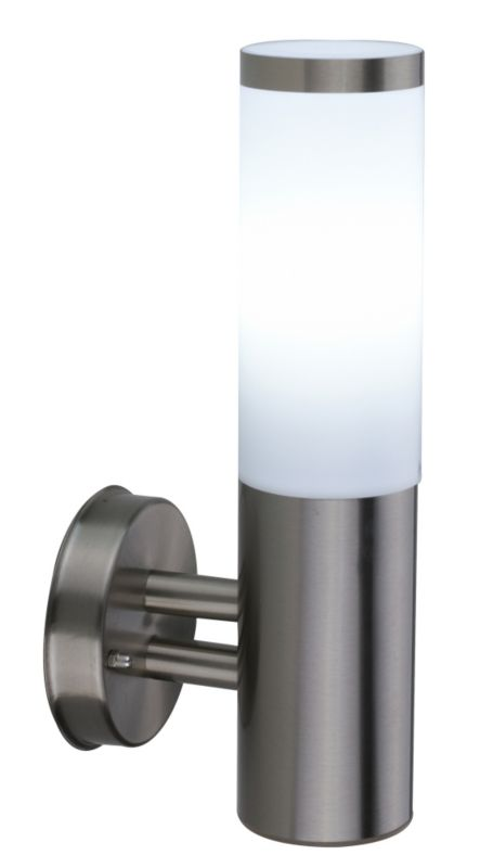 Aurora External Wall Lights : B&Q Cano Outdoor Wall Light in Stainless Steel Wall Light - review, compare prices, buy online