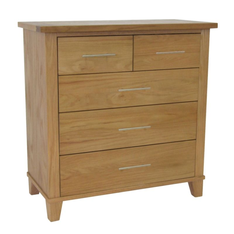 2 Over 2 Drawer Chest Oak