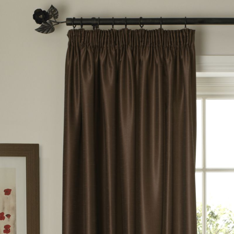 Colours by BandQ Shoana Pleated Curtains Chocolate