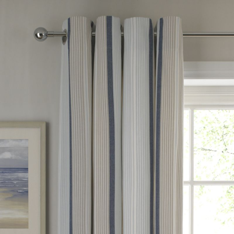 Colours by BandQ Seabreeze Eyelet Curtains Blue
