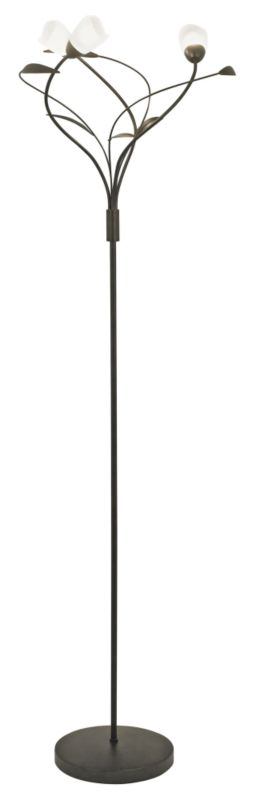 Lights by BandQ Chloe 3 Floor Lamp Chocolate