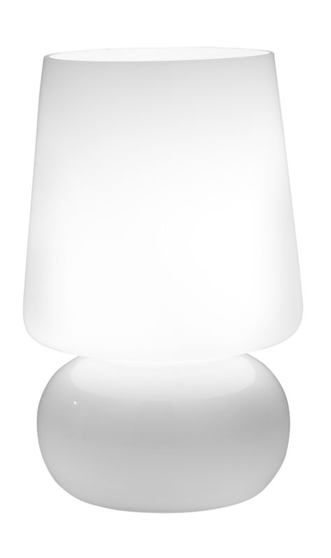 Lights by BandQ Oli Glass Table Lamp White 40W