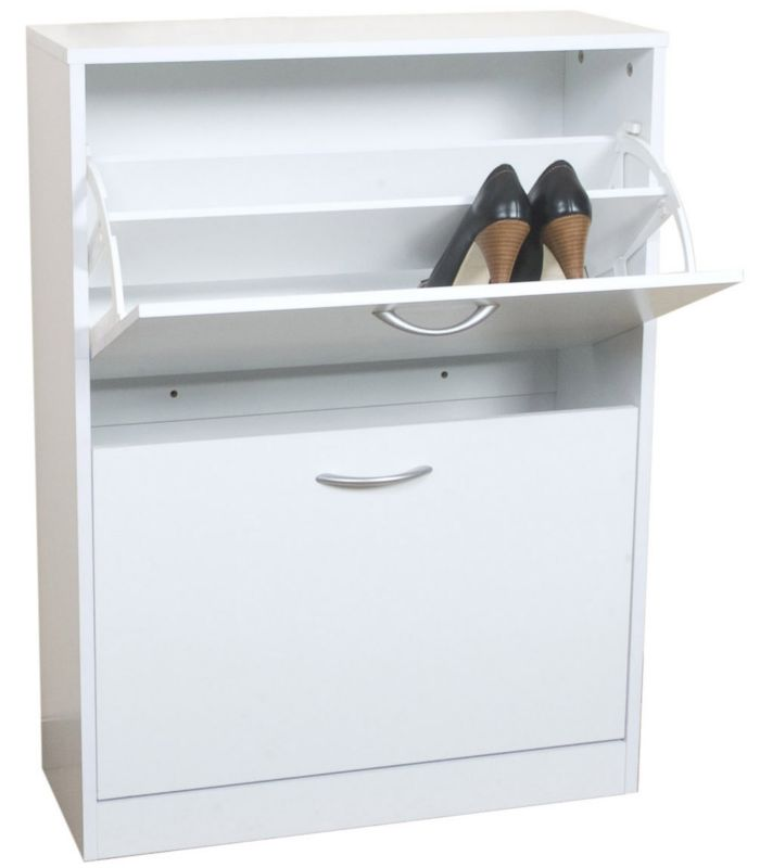 Select 2 Tier Shoe Cabinet White HTGT31082W