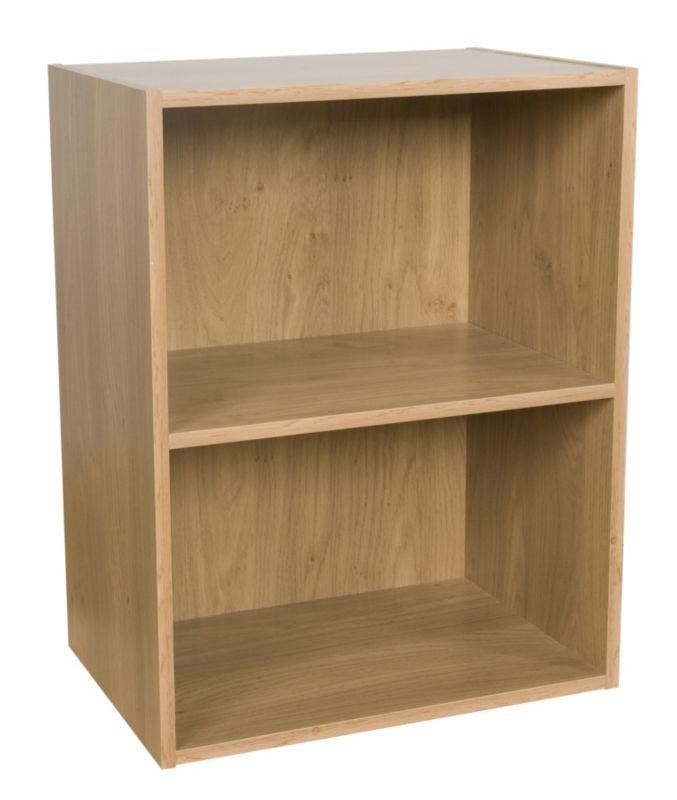 2 Tier Bookcase Oak Effect