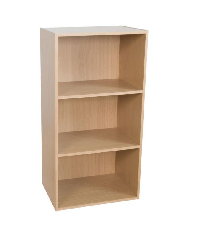 3 Tier Bookcase Beech Effect KBQ-901-3B