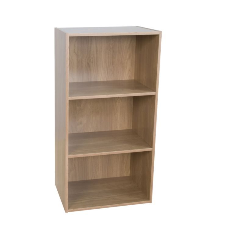 3 Tier Bookcase Oak Effect KBQ-901-3O