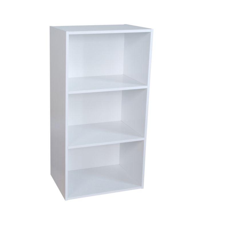 3 Tier Bookcase White KBQ-901-3W