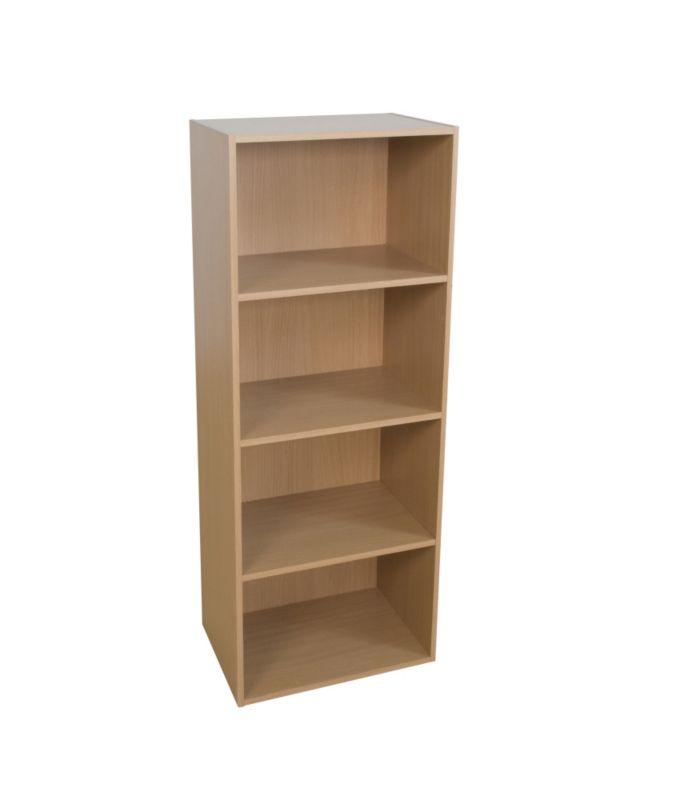 4 Tier Bookcase Beech Effect