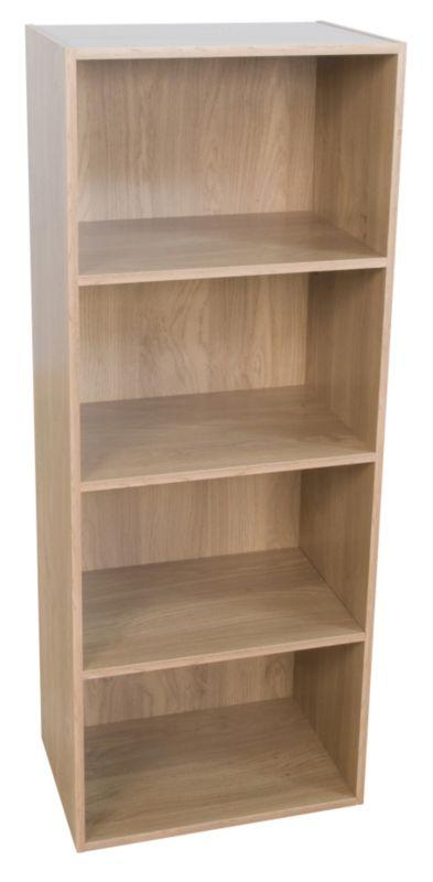 4 Tier Bookcase Oak Effect KBQ-901-4O