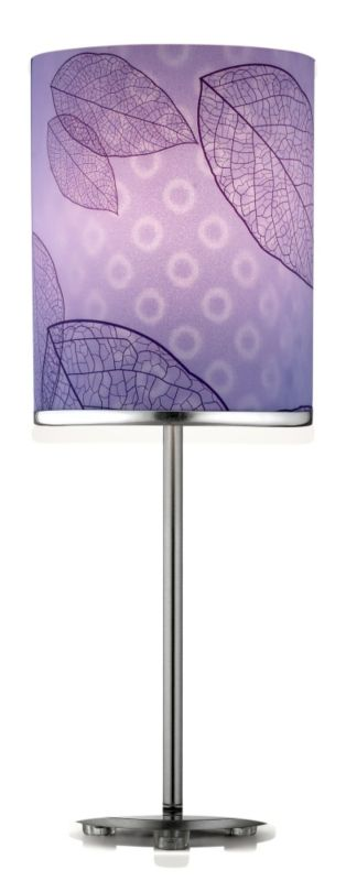Lights By BandQ Leaf Table Lamp Lilac