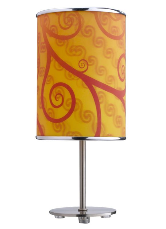 Lights by BandQ Leaf Table Lamp 3D Shade Orange