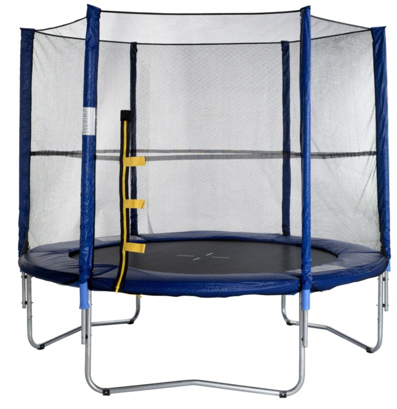 8ft Round Trampoline with Enclosure