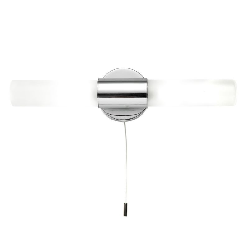 Lights by BandQ Float 2 Light Wall Light Chrome