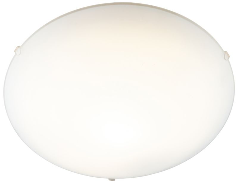 Hudson Frosted Glass Flush Ceiling Light