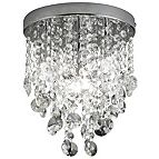 Lights Collection by B&Q Glimmer Crystal Glass Flush Chrome Effect