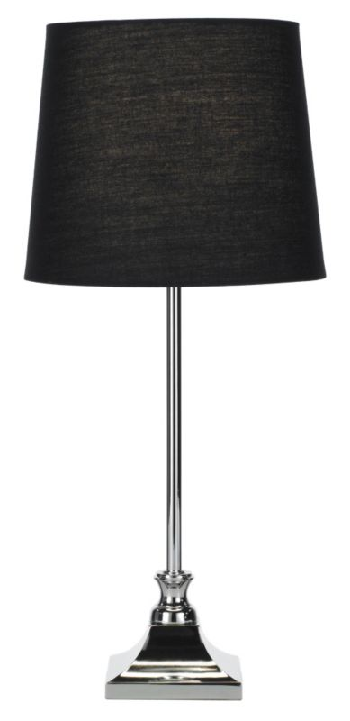 Lights by BandQ Olivia Chrome Table Lamp With
