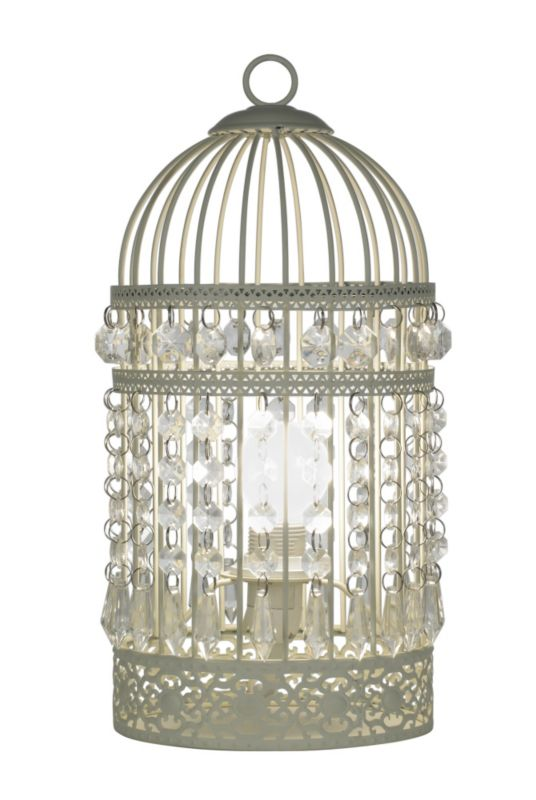Lights by BandQ Isobel Birdcage Table Lamp Cream