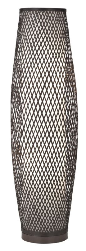 Joyce Bamboo Dark Brown Floor Lamp