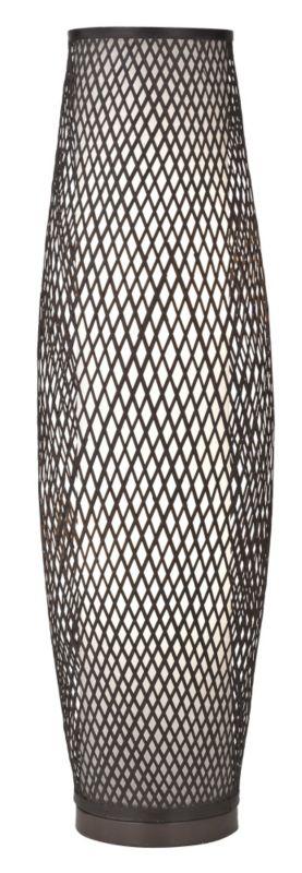 Joyce Bamboo Dark Brown Floor Lamp