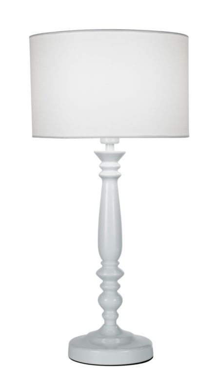 Lights by BandQ Angelina Large Table Lamp White