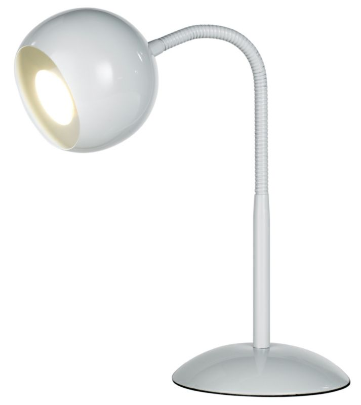 Lights by BandQ Rosalie Eyeball Table Lamp White