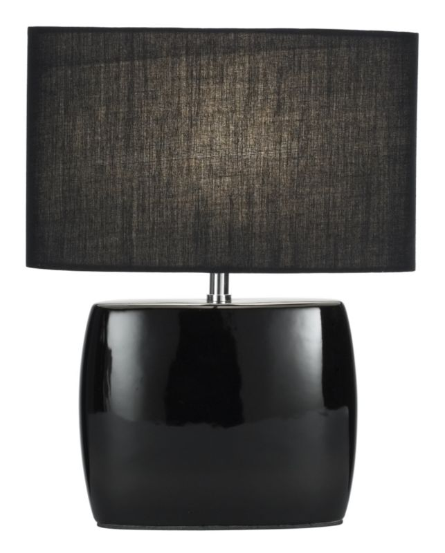 Lights by BandQ Cynthia Black Ceramic Table Lamp