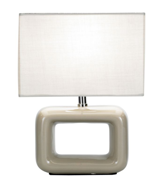 Lights by BandQ Lizzie Table Lamp Taupe 32565