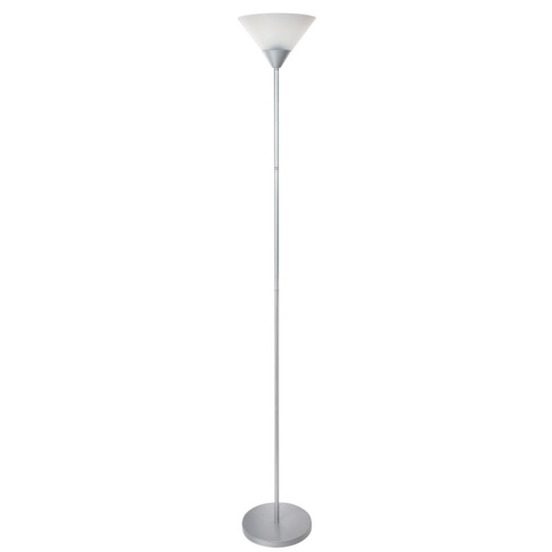 Colours by BandQ Freddy Floor Lamp Silver/White
