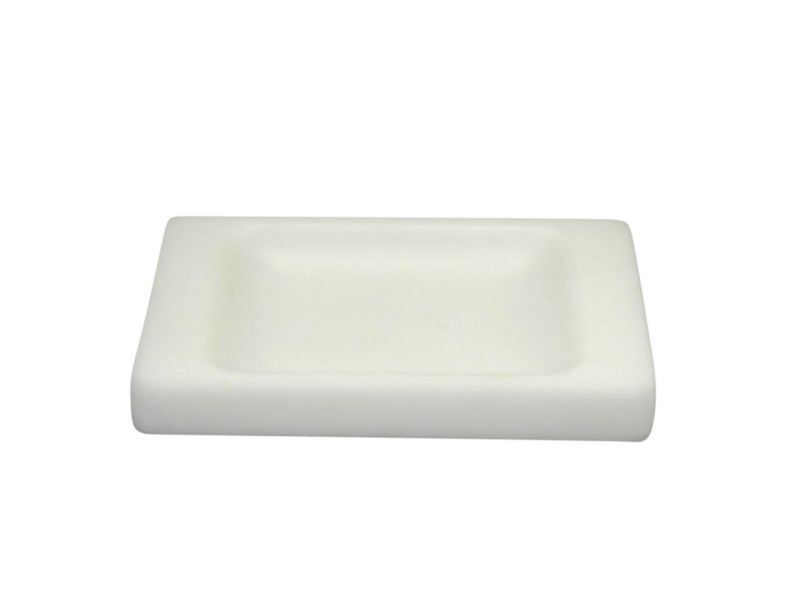 BandQ Rounded Square Soap Dish White