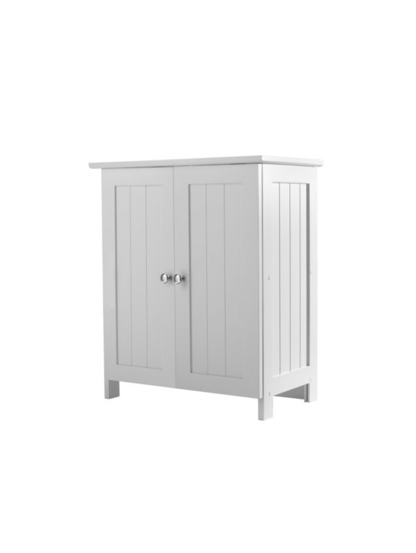 B&Q Tongue & Groove Effect Under Sink Small Vanity Unit