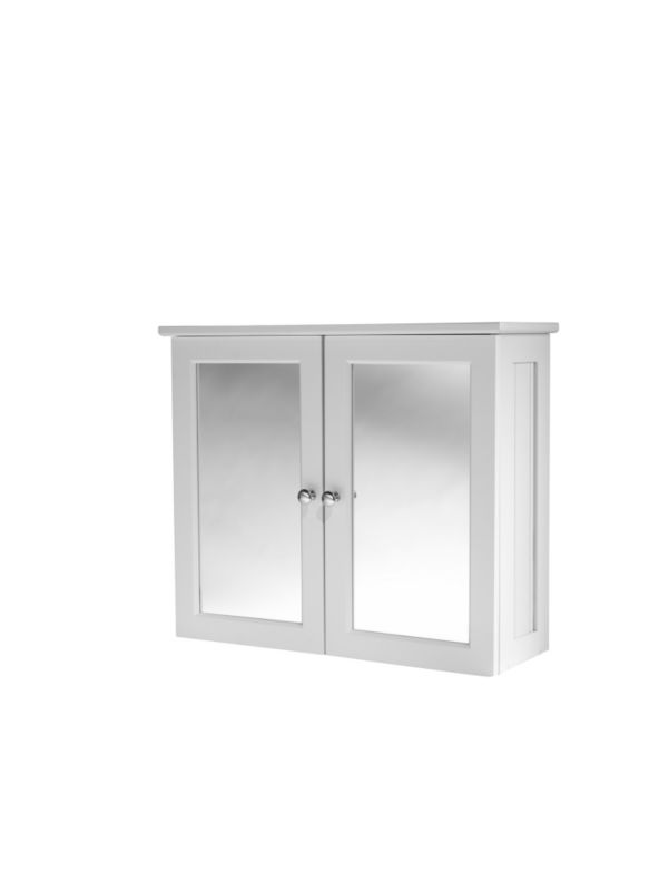 tongue groove effect double door mirror cabinet customer