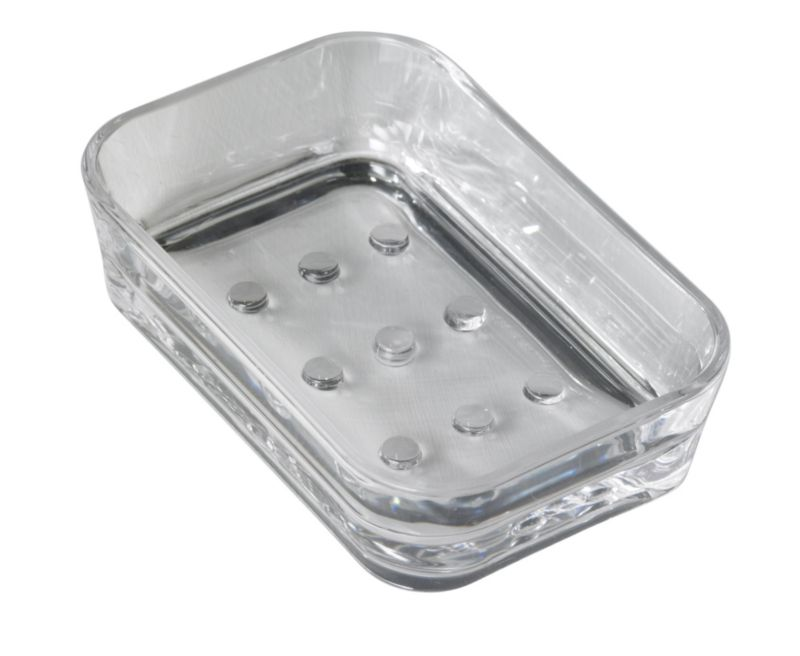 BandQ Rounded Square Soap Dish Clear