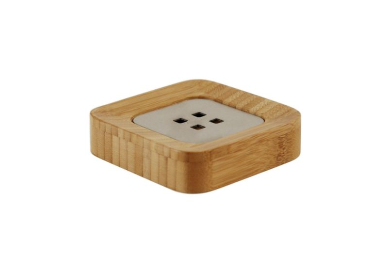 BandQ Bamboo Rounded Square Soap Dish