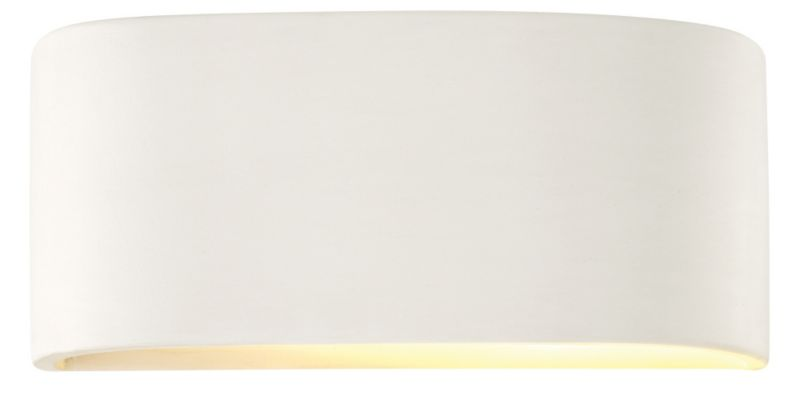 Lights by BandQ Della Ceramic Wall Light White