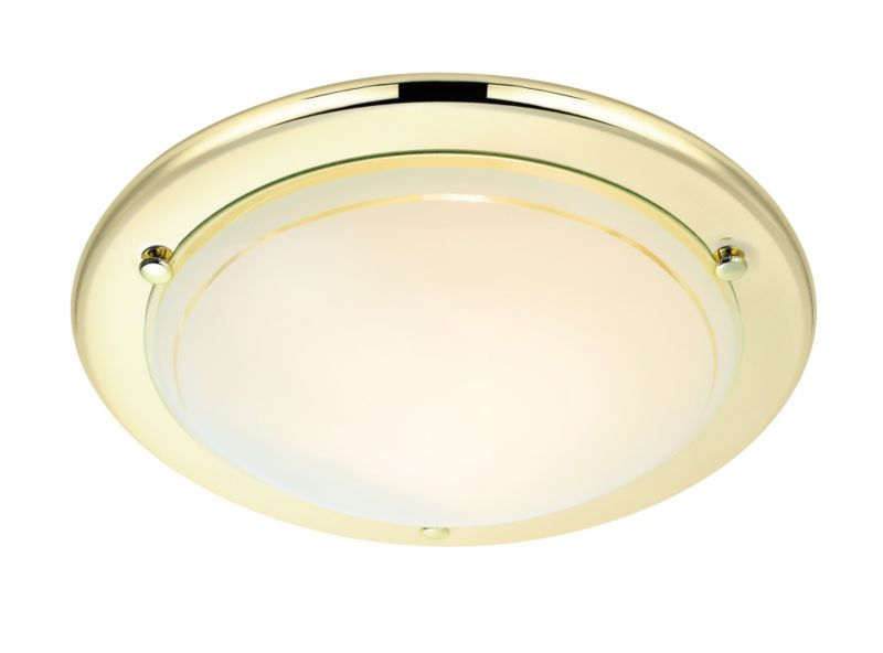 Colours by BandQ Lulea Ceiling Light Brass Effect
