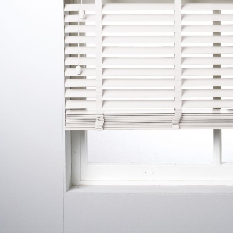 Silvia 50mm Wide Slat PVC White Venetian Blind