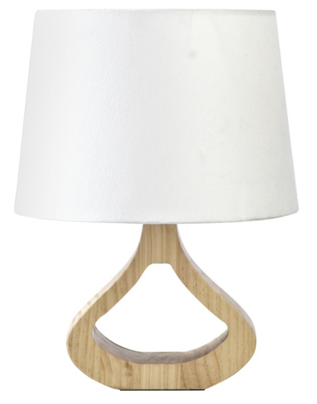 Colours by BandQ Noorland Wooden Base Table Lamp