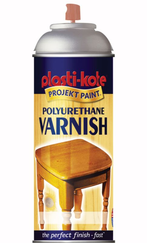 Plasti-kote Polyurethane Varnish Spray Satin 400ml
