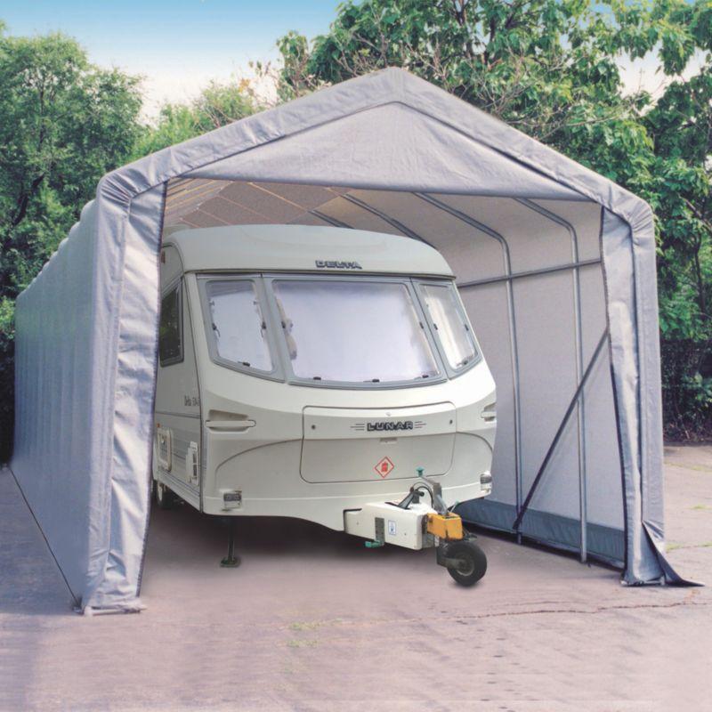 Shelter Logic Peak Style Shelter W14' x D32' x H12'