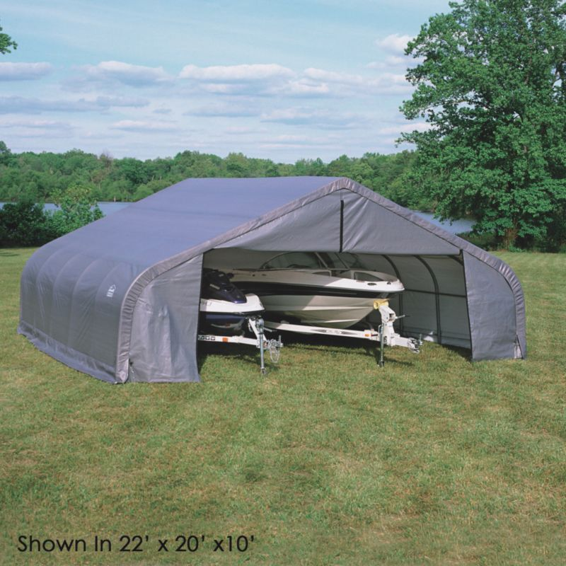 Shelter Logic Double Wide Garage W22' x D24' x H10'