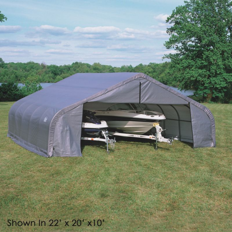 Shelter Logic Double Wide Garage W22' x D24' x H12'