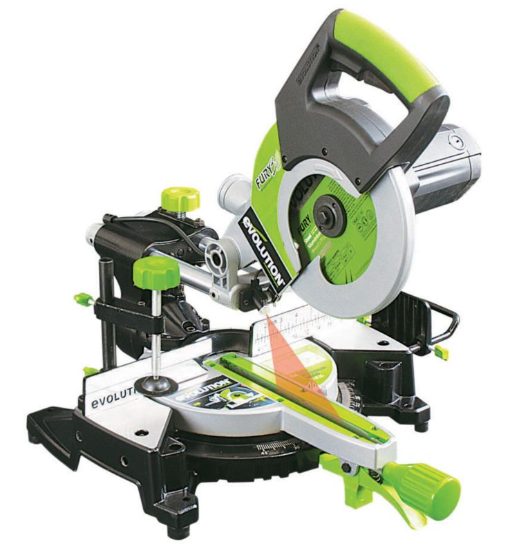 Evolution Fury3 210mm Sliding Mitre Saw